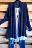 All About That Shine Cardigan - Navy