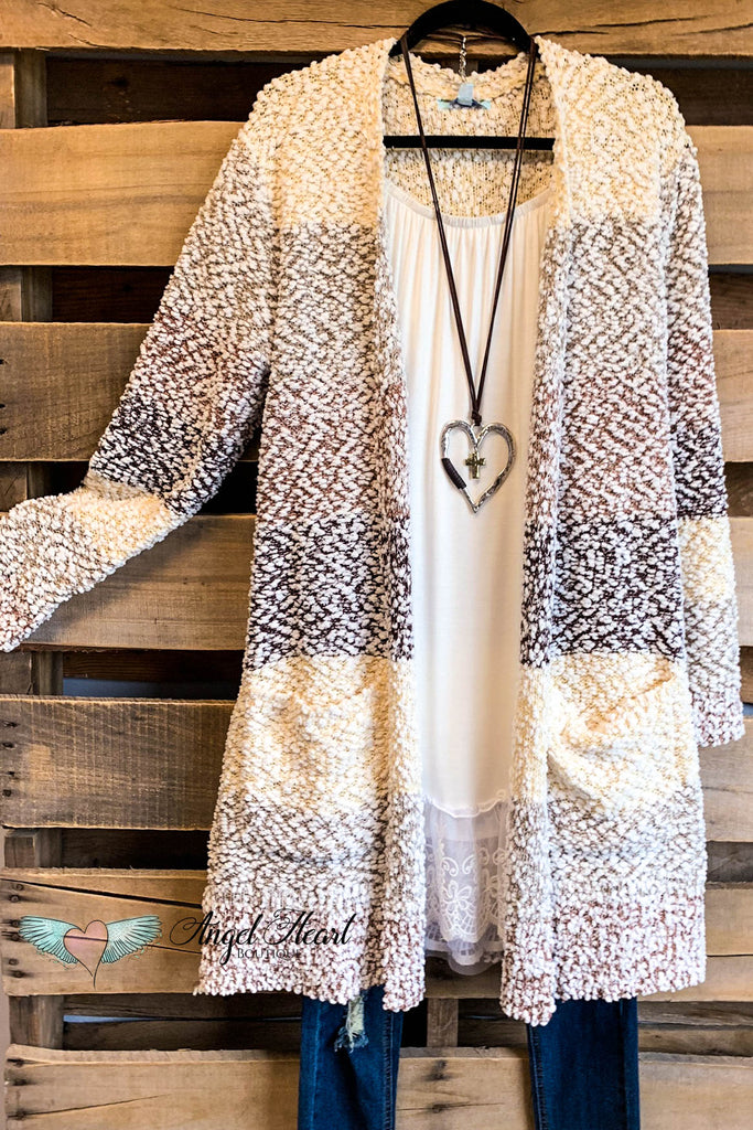 Everything At Once Cardigan - Taupe