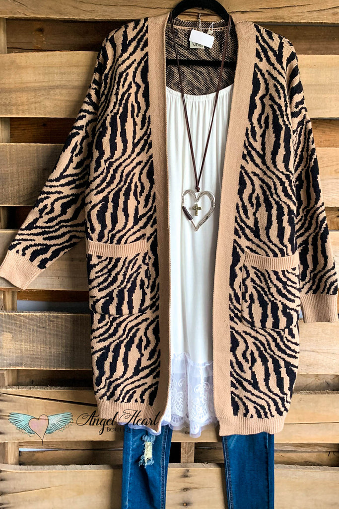 Out To Lunch Cardigan - Animal Print - SALE