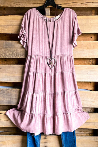 Gaining Happiness Dress - Hot pink