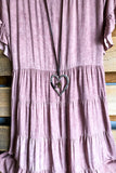 Just Simply Dress - Mauve - 100% COTTON