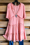 Summer Romance Dress - Peach - 100% COTTON