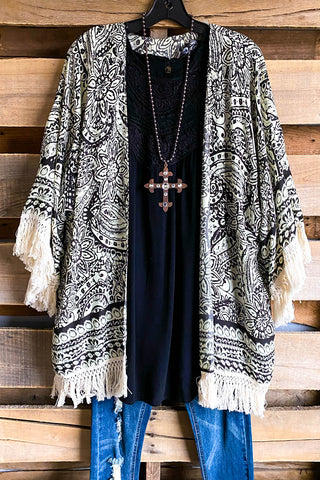 Marvelous Mesh Maxi Cardigan - Black