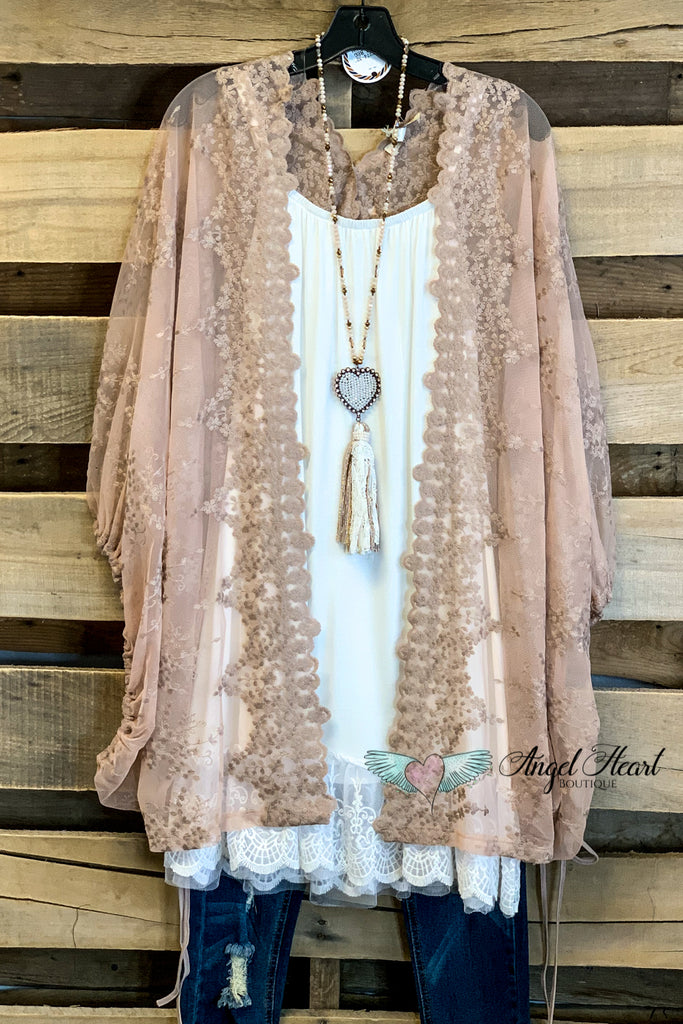 The Sweetest Song Lace Kimono - Latte