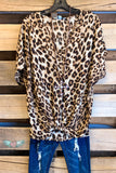 So Into You Top - Camel/Leopard