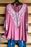 Sweet Memories Tunic - Mauve
