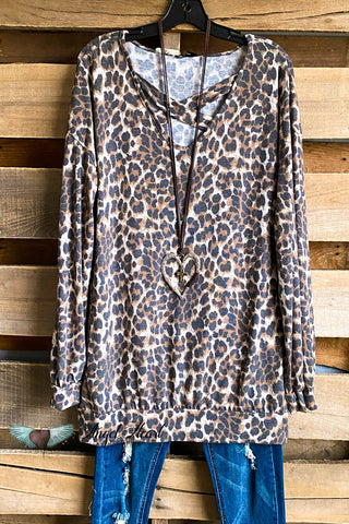 Oversized Crafty Poncho - Charcoal/Leopard
