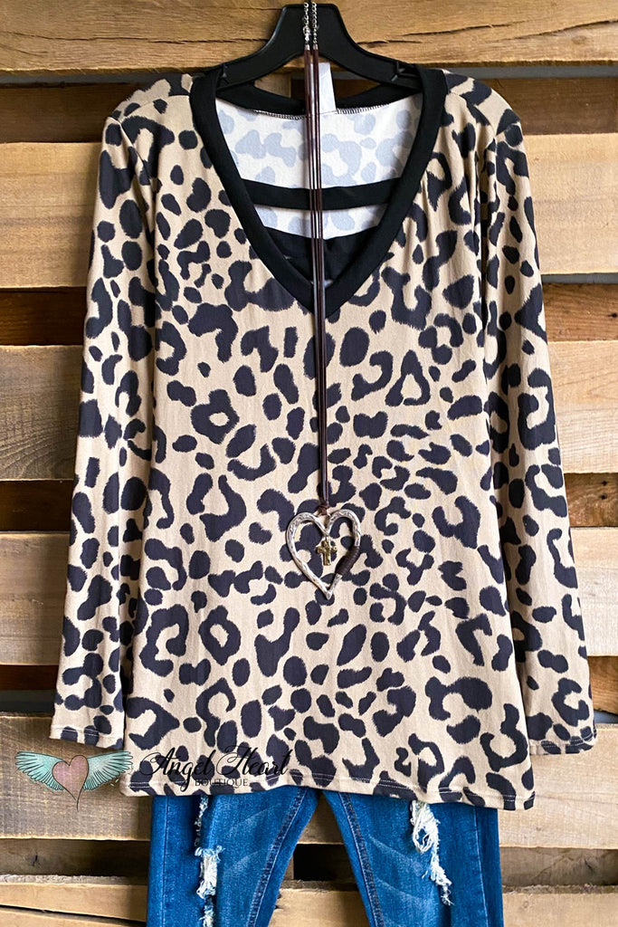 Modern Moves Top - Mocha/Leopard