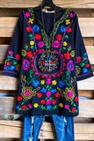 AHB EXCLUSIVE:  As Beautiful as It Gets Tunic -Black - 100% COTTON