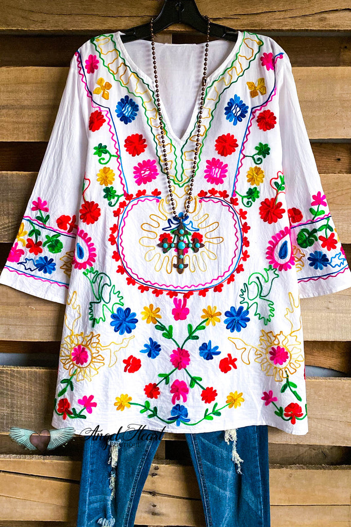 AHB EXCLUSIVE: As Beautiful As It Gets Tunic - White - 100% COTTON