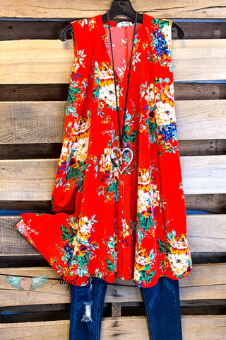 Nights Like This Kimono - Red - SALE