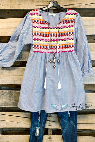 Looking Your Way Tunic - Teal - SALE