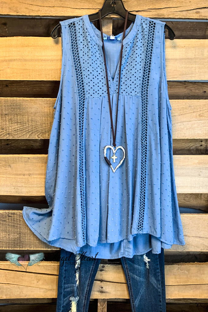 Kiss You In The Morning Top - Blue