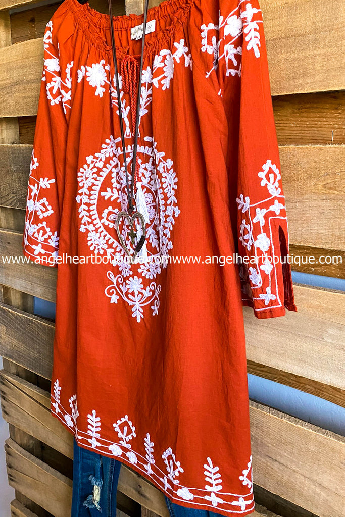 AHB EXCLUSIVE: Sun Up Forever Tunic - Rust