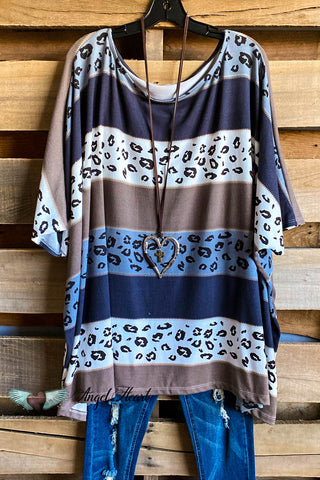 AHB EXCLUSIVE: The It Girl Oversized Loose Fitting Tunic - Mocha