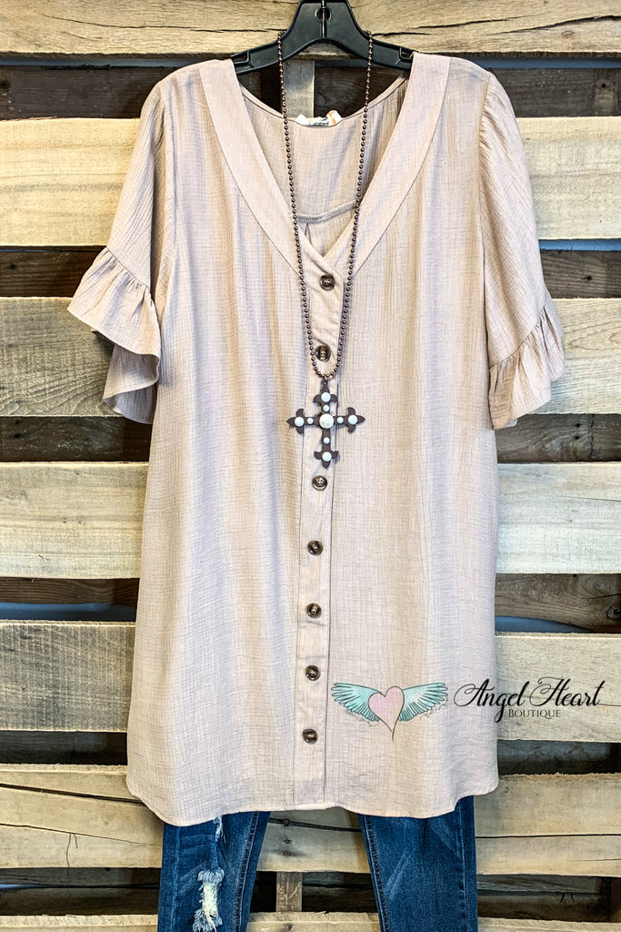 Surrounded  By Beauty Blouse - Latte