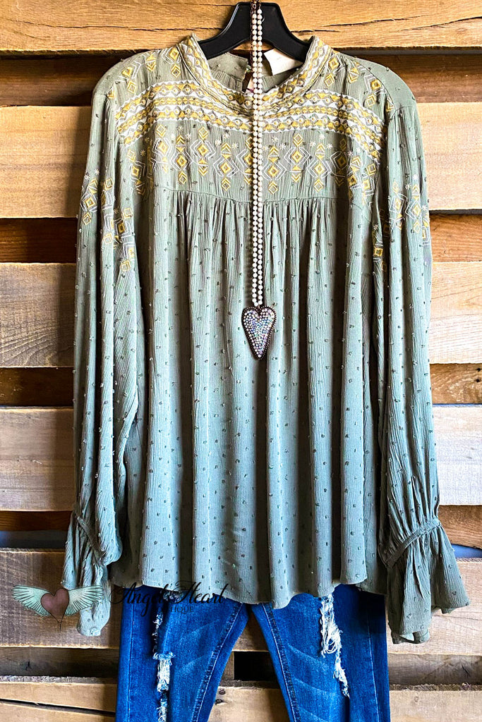 Beautiful Smiles Top - Olive - SALE