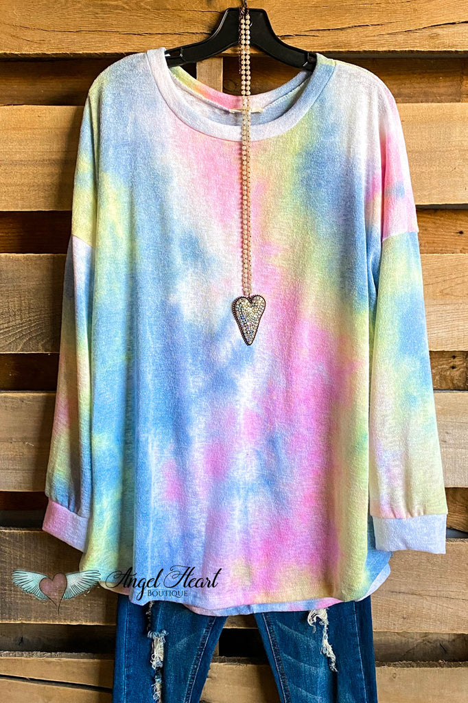 Daydream Knit Top -Blue/Pink - SALE