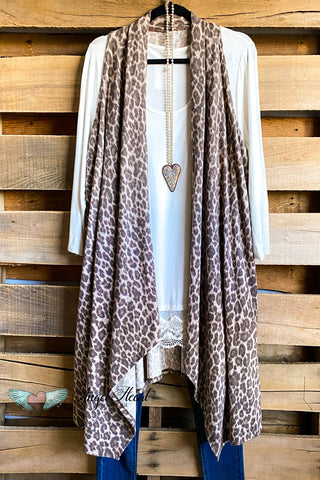 AHB EXCLUSIVE: More Than Just a Friend Lace Kimono - Leopard