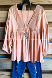 Keep Pushing Blouse - Peach