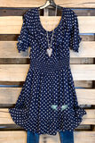 That Perfect Summer Dress - Navy - Polka Dots