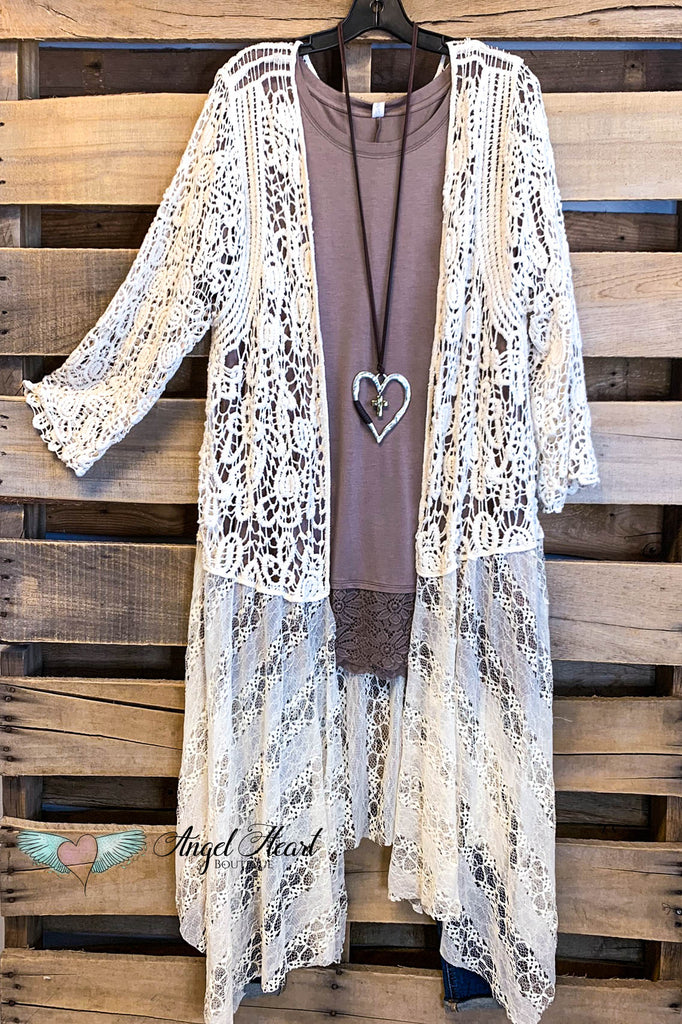 AHB EXCLUSIVE: You Amaze Me Long Crochet Duster - Natural