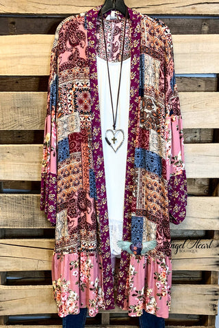 Romantic At Heart Kimono - Black