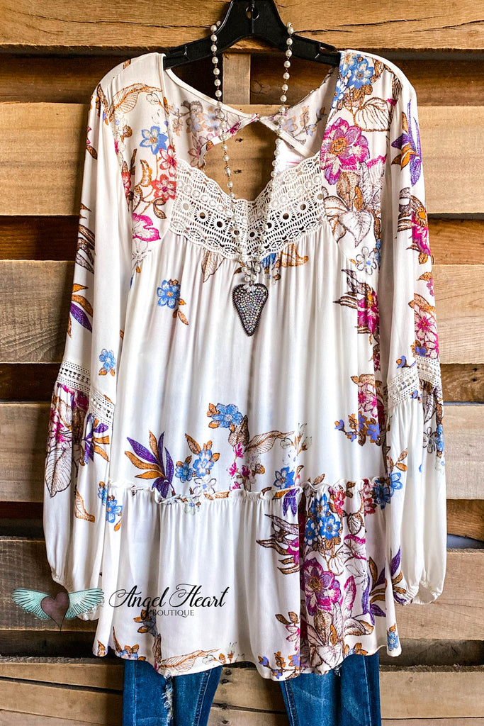 Pretty In Paint Tunic - Off White