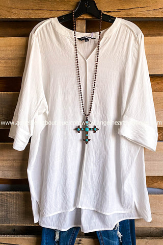Never Hiding Tunic - Off White -  SALE