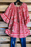 Everyday Empress Tunic - Red