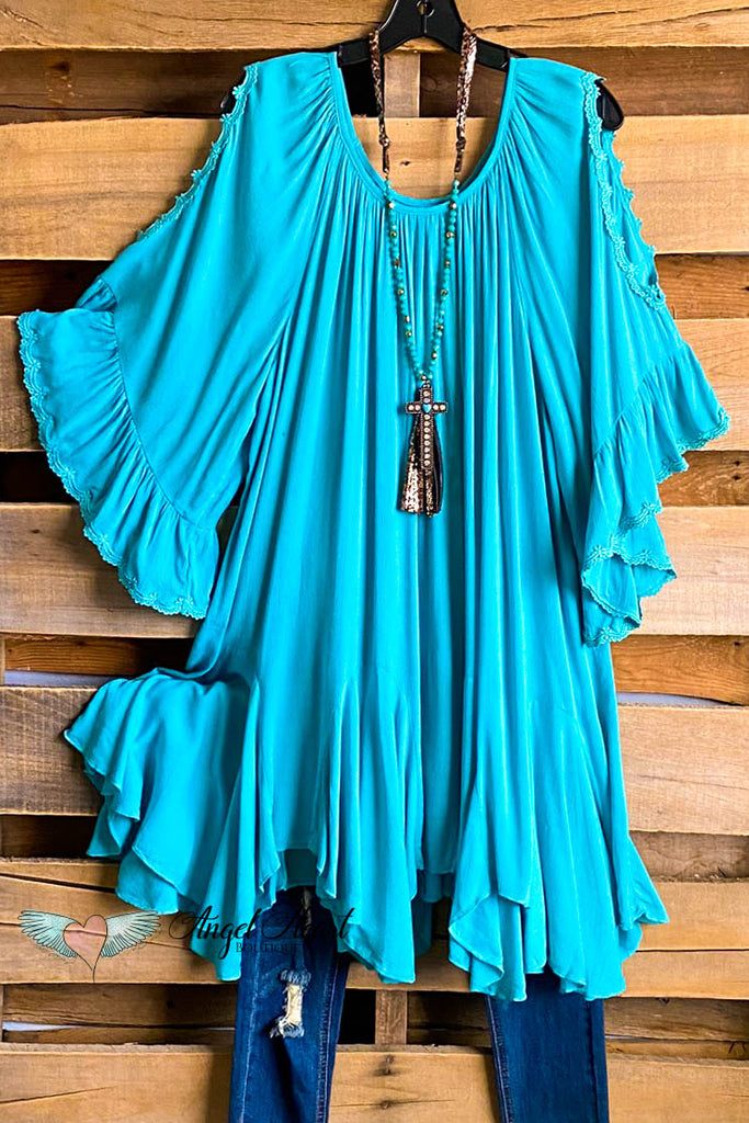 AHB EXCLUSIVE: Classy Oversized Tunic - Turquoise