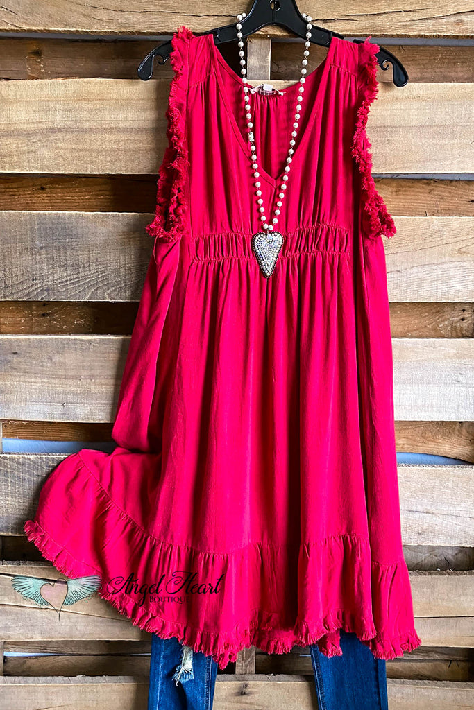 The Right Path Dress - Jester Red