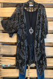 AHB EXCLUSIVE: More Than Just a Friend Lace Kimono - Black