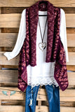Talk Nice To Me Sweater Vest - Maroon