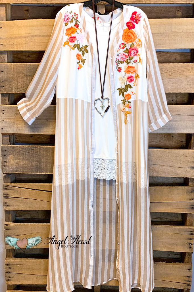AHB EXCLUSIVE: Long Duster & Love - Taupe