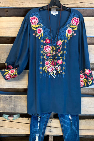 AHB EXCLUSIVE: Beautiful All Around Dress - Navy