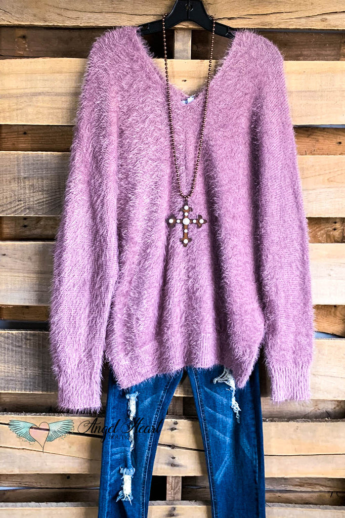 Share the Warmth Sweater - Mauve