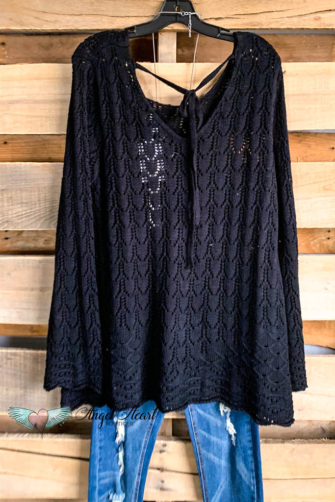 Ease Into The Day Tunic - Black