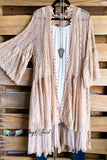 AHB EXCLUSIVE: Breezy Nights Duster Kimono - Taupe