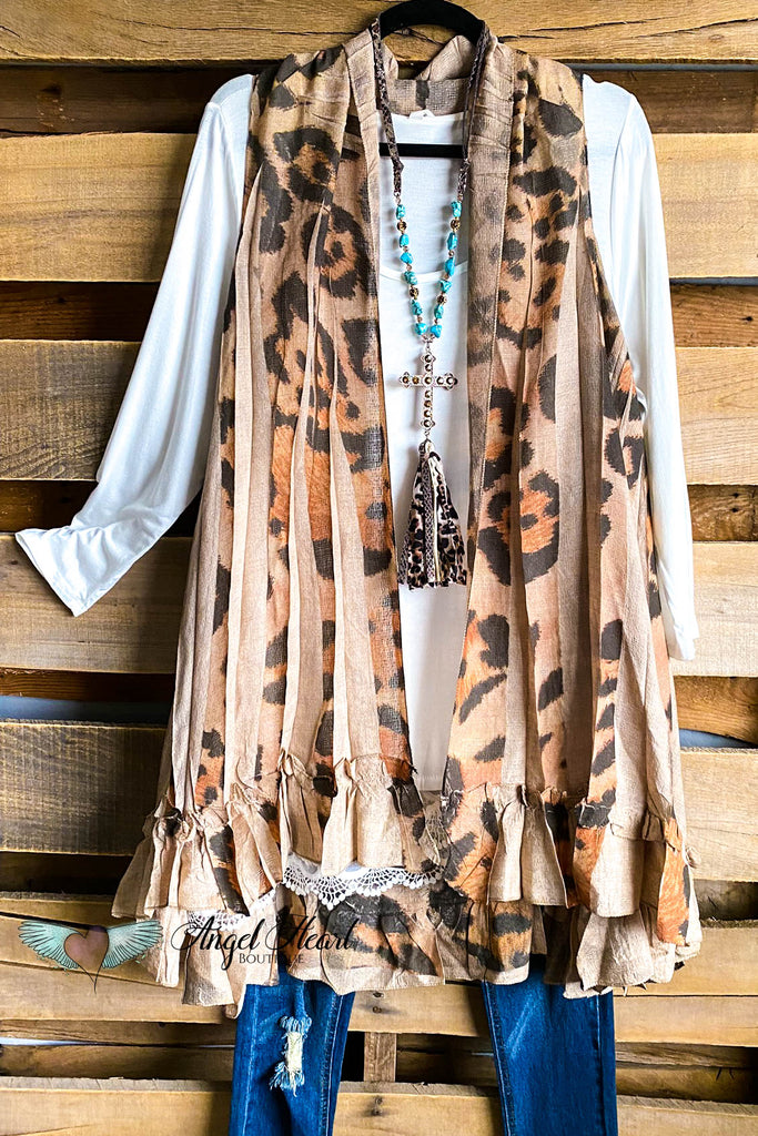 AHB EXCLUSIVE: Counting The Stars Vest - Leopard