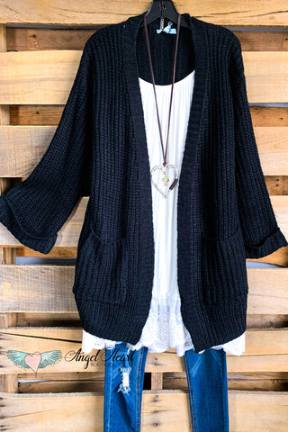 Steel Magnolia Cardigan - Black