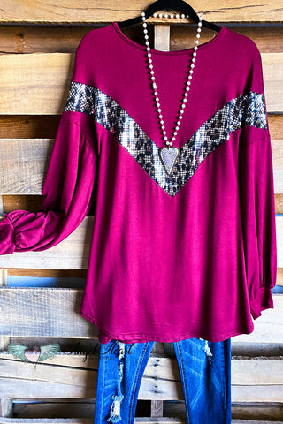 Cozy Cuddles Dress - Burgundy - SALE