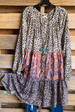 Bright Future Dress - Taupe Combo
