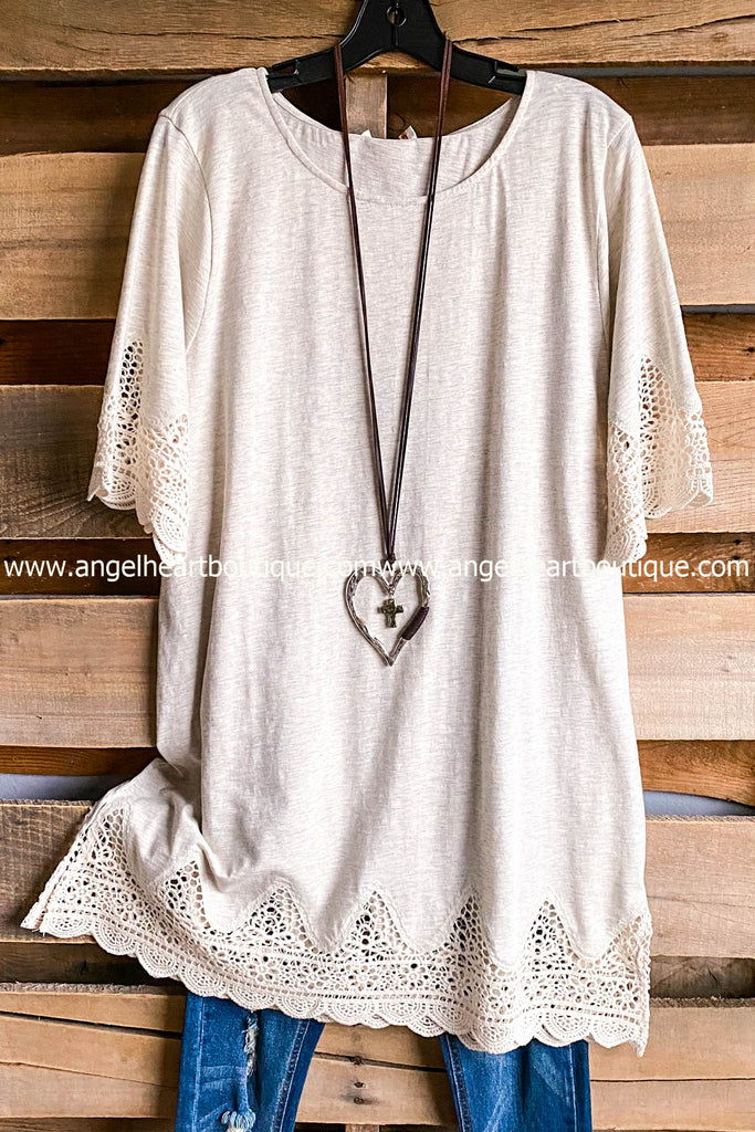 Touchy Feely Tunic - Oatmeal