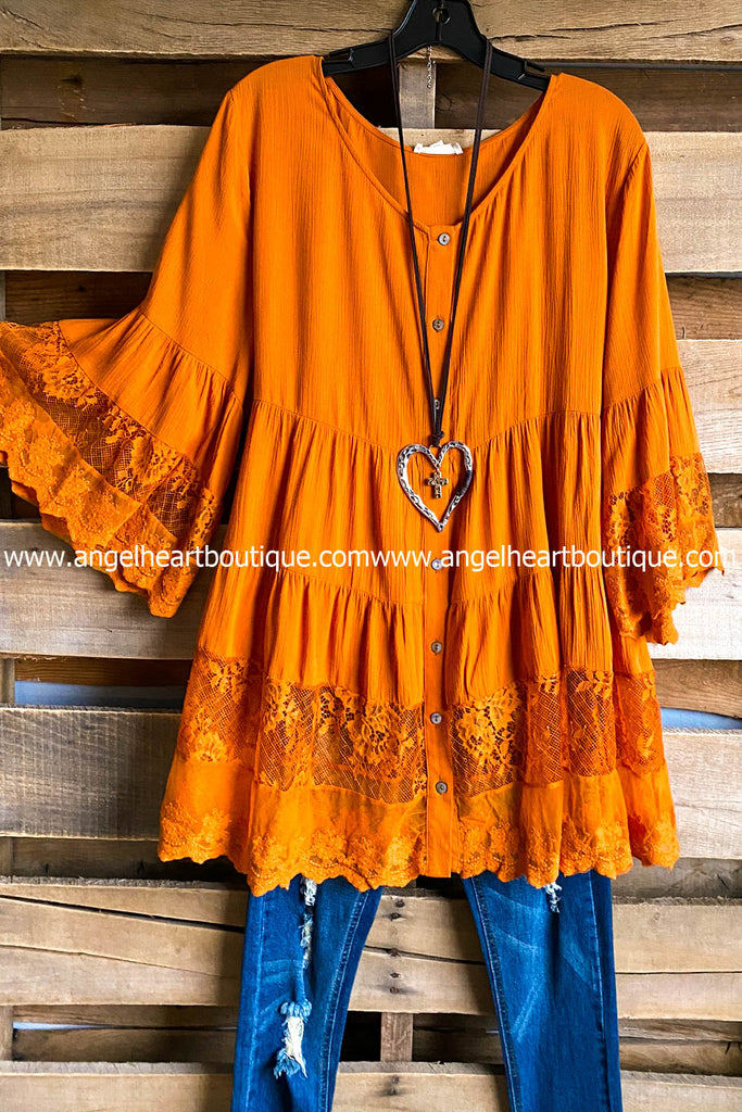 Catch My Breath Blouse - Caramel