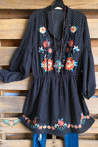 AHB EXCLUSIVE: Wild Beginnings Duster- Denim/Navy