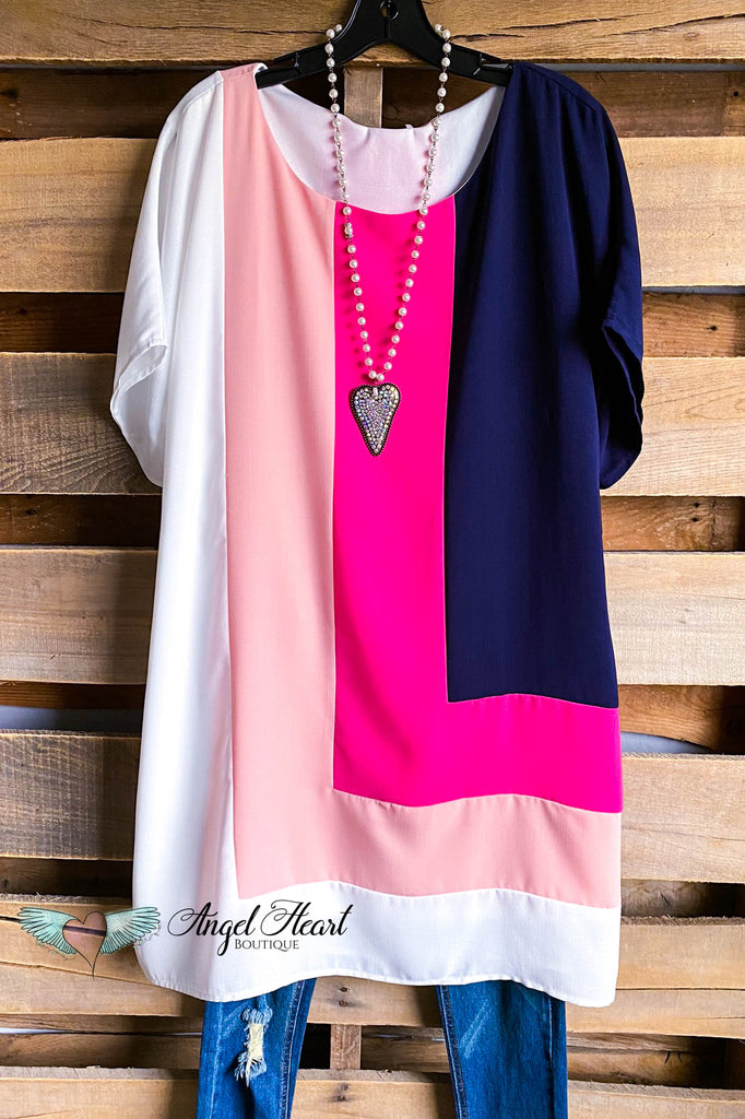 Marvelous Love Dress - Navy/Fuchsia