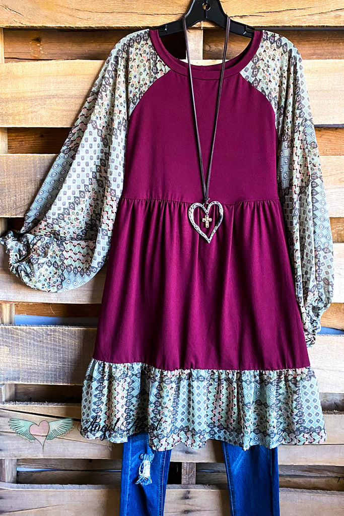 Modern Moments Swing Dress - Burgundy
