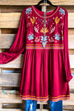 Melody Moves Dress - Burgundy