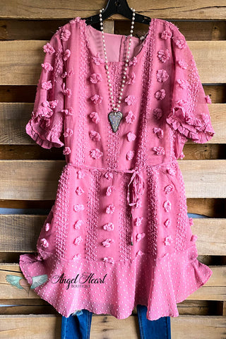 Pretty Heart Dress - Hot Pink - SALE